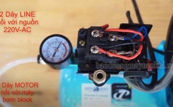 Cách đấu dây tại hộp điện của máy nén khí