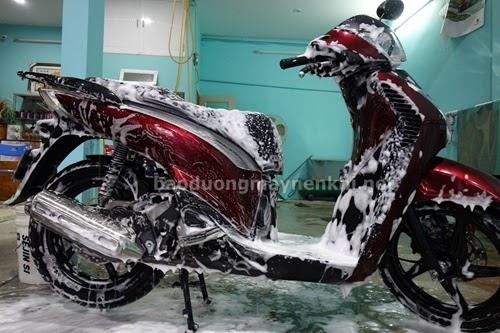 Tự rửa xe máy sáng bóng tại nhà