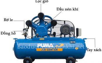 Cấu tạo của máy bơm khí Puma 3HP