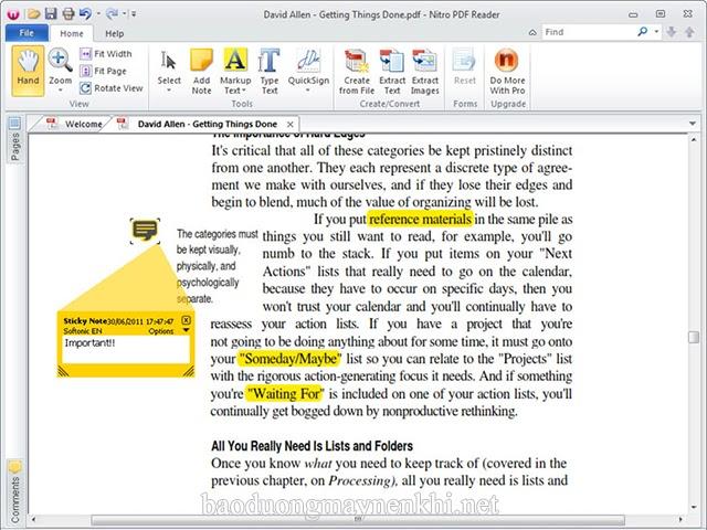 dễ dàng đọc file pdf với Nitro Reader