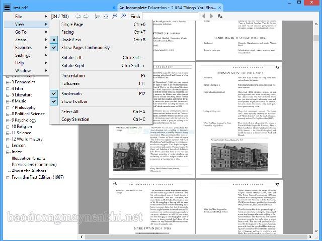 đọc file pdf dung lượng lớn với Sumatra PDF