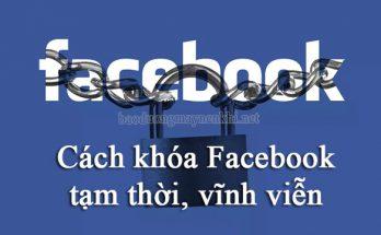 cách khóa facebook
