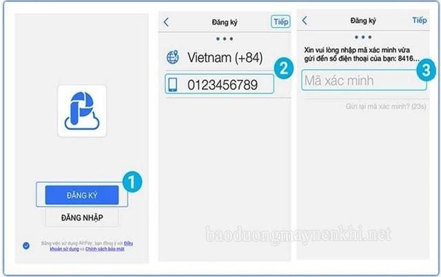 đăng ký ví điện tử Air Pay