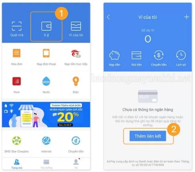 Cách liên kết ví Airpay với tài khoản ngân hàng