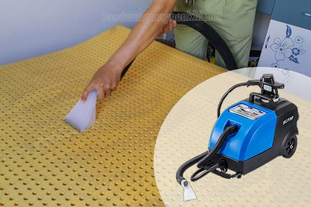 cách giặt nệm cao su non
