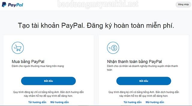 lập tài khoản paypal như thế nào