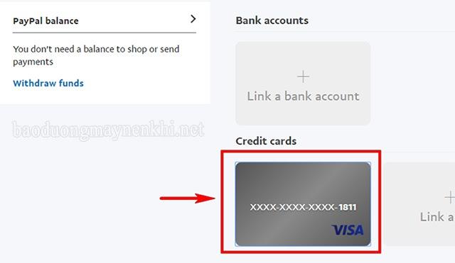 liên kết thẻ ngân hàng với paypal