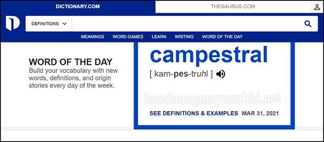 dịch đoạn văn bản với Dictionary.com