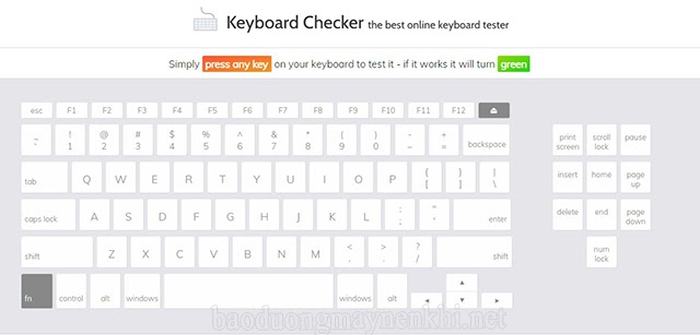 test keyboard Checker laptop