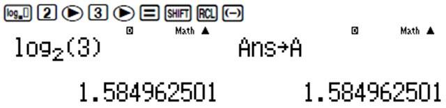 giải bài tập logarit bằng máy tính casio