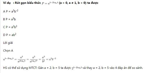 Rút gọn và tính giá trị biểu thức logarit