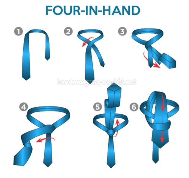 cách thắt cà vạt truyền thống