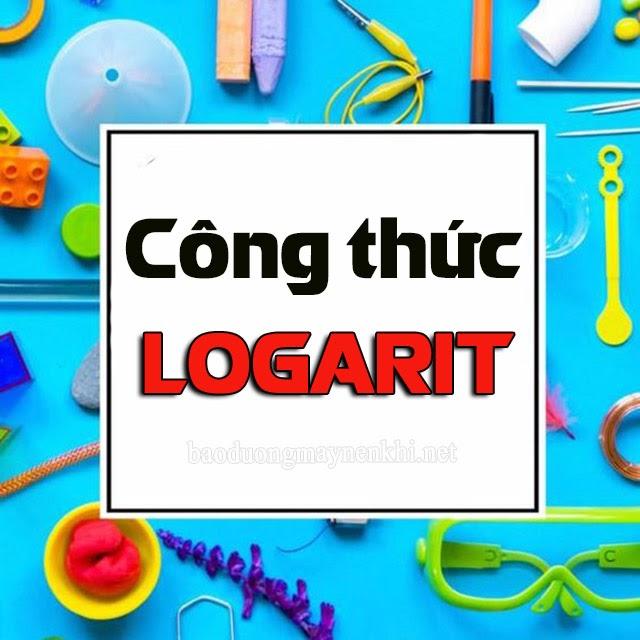 công thức tính logarit