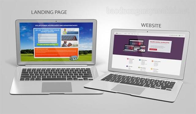 landing page khác gì website