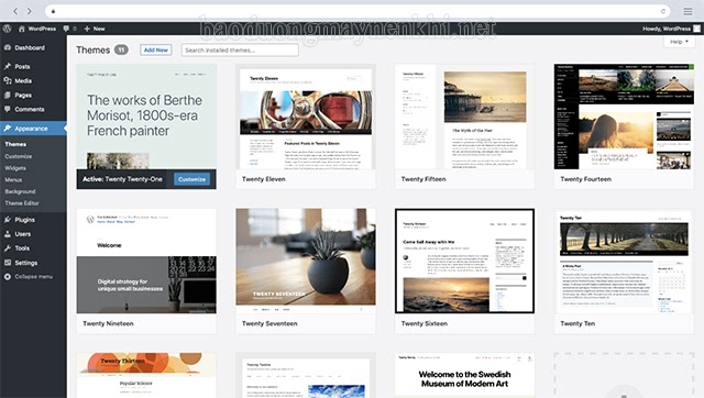 Giao diện của Weebly